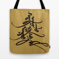 Mongolian Calligraphy Tote Bag